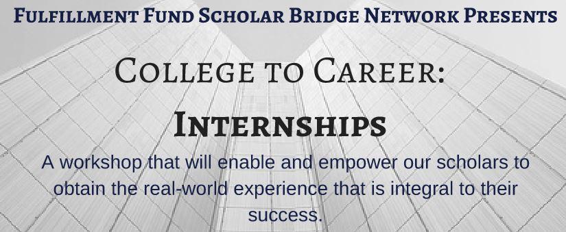 Mentors Needed:  Fulfillment Fund's Internship to Career Workshop