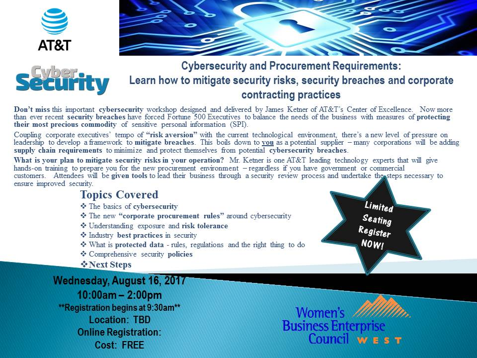 WBEC-West Nevada's Cyber Security presented by AT&T