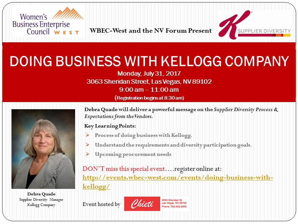 Doing Business with Kellogg!