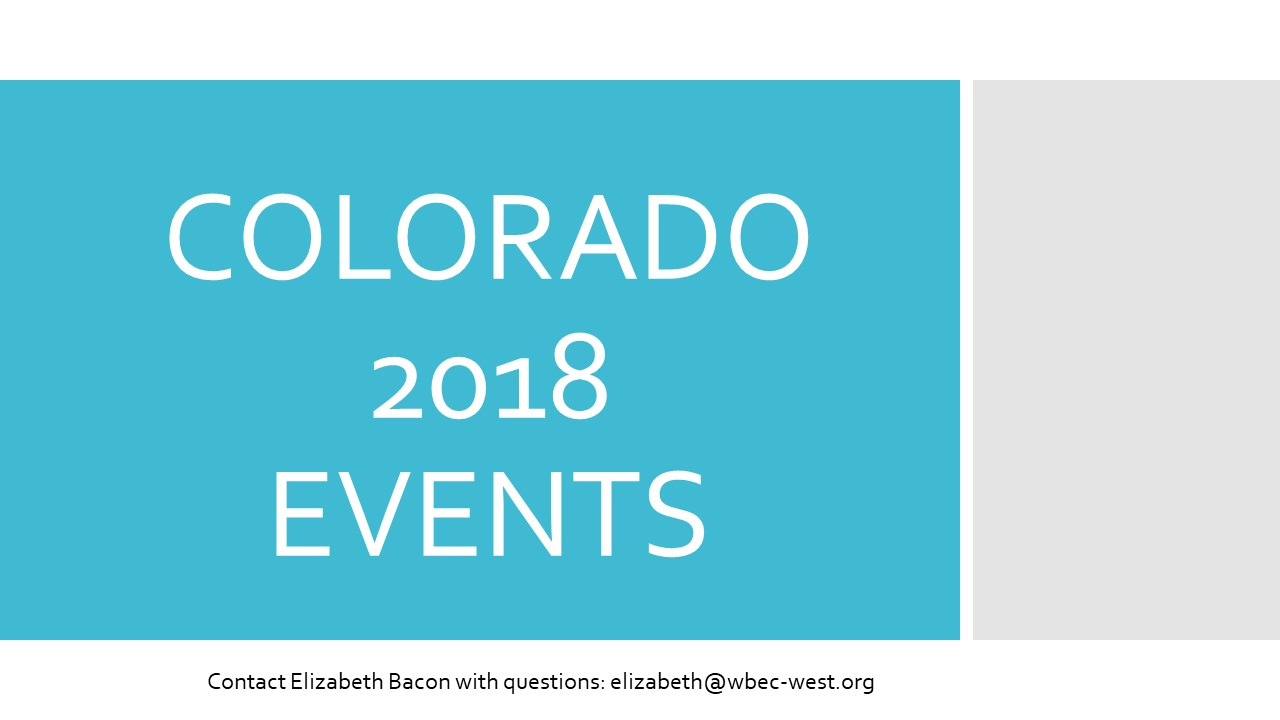Colorado 2018 Events