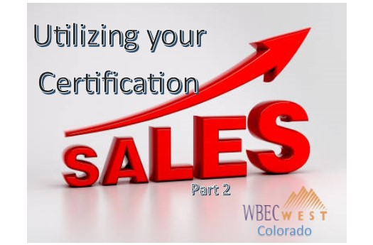Utilizing your  Certification in Sales