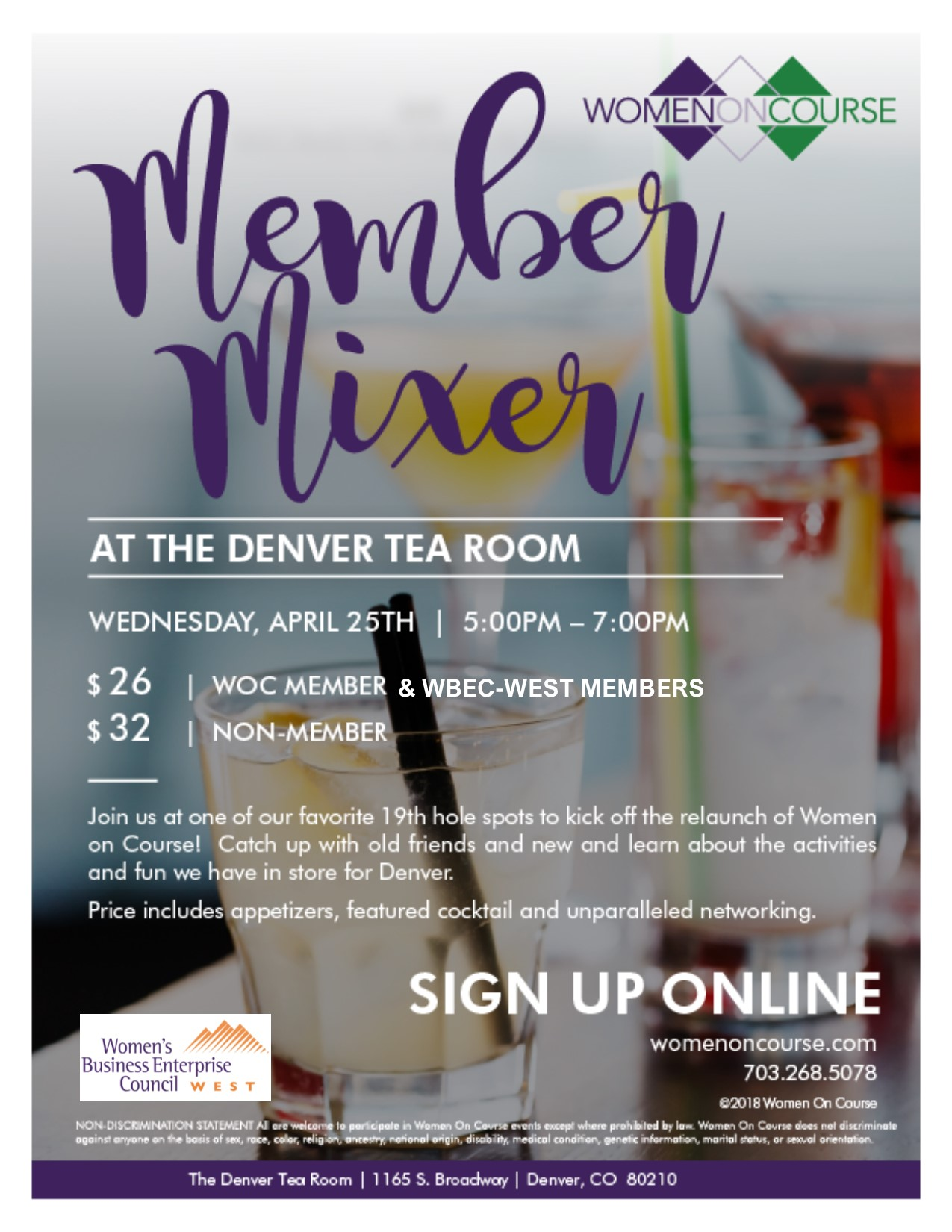 Women on Course & WBEC-West Mixer