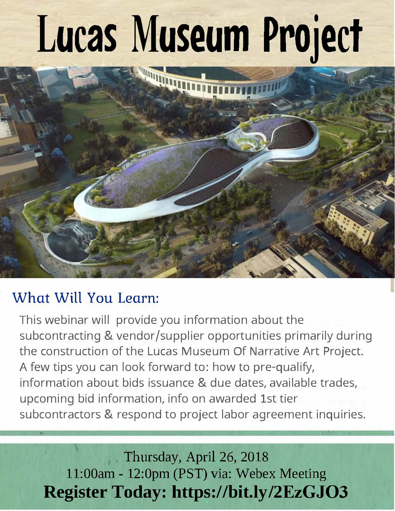 Lucas Museum Project Flyer