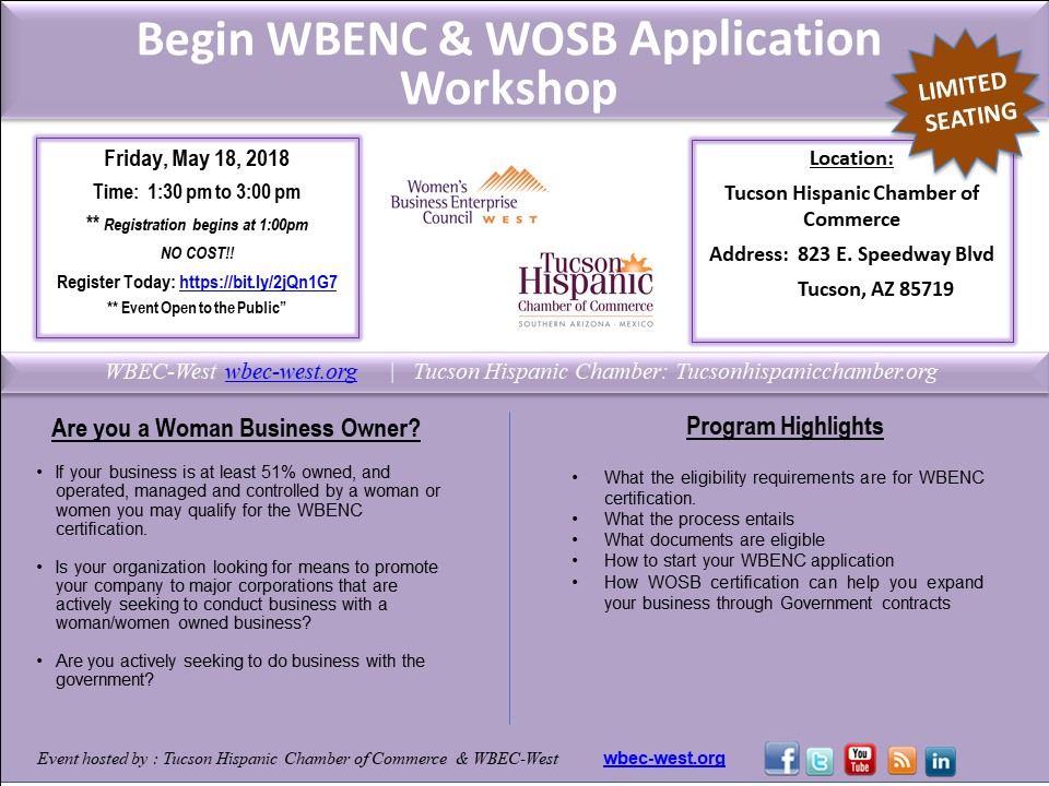 Begin WBENC and WOSB Application Workshop - May 18, 2018
