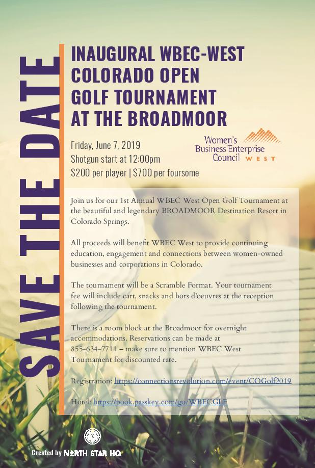 Inaugural WBEC-West Colorado Golf Tournament