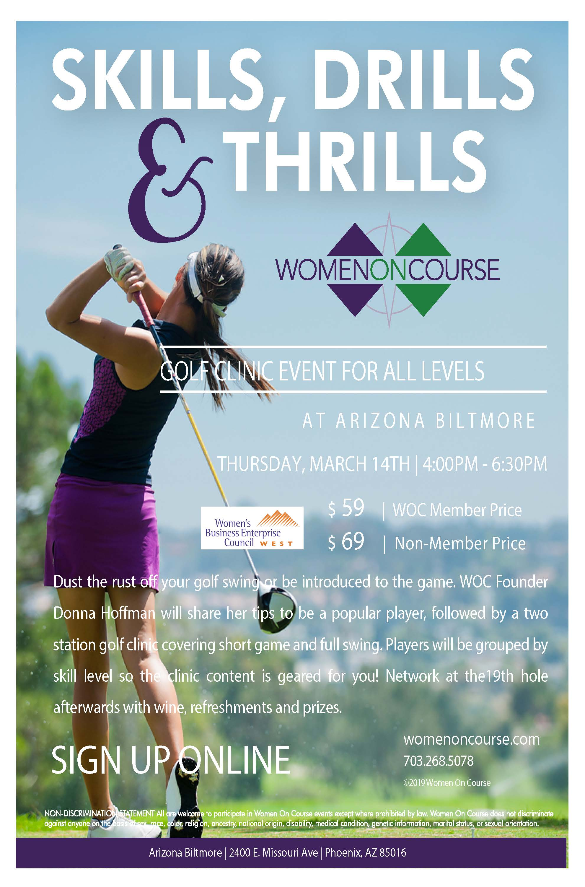Skills, Drills and Thrills - Women on Course