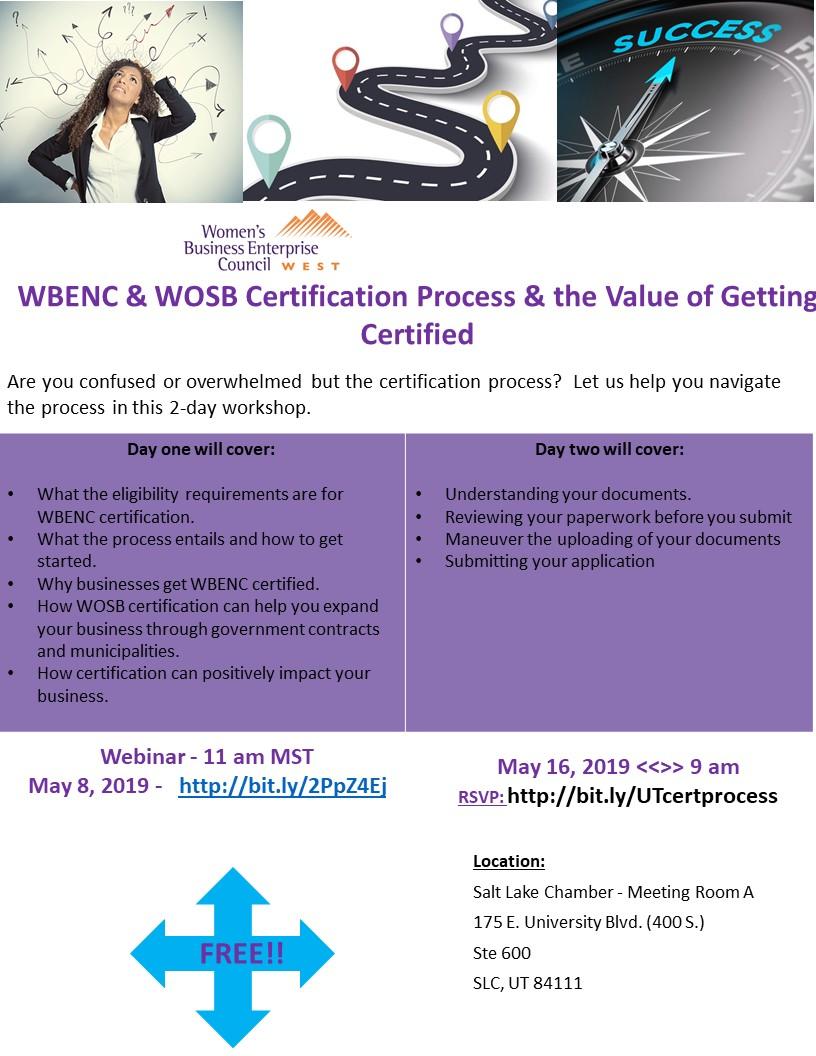 2 day certification ws UT