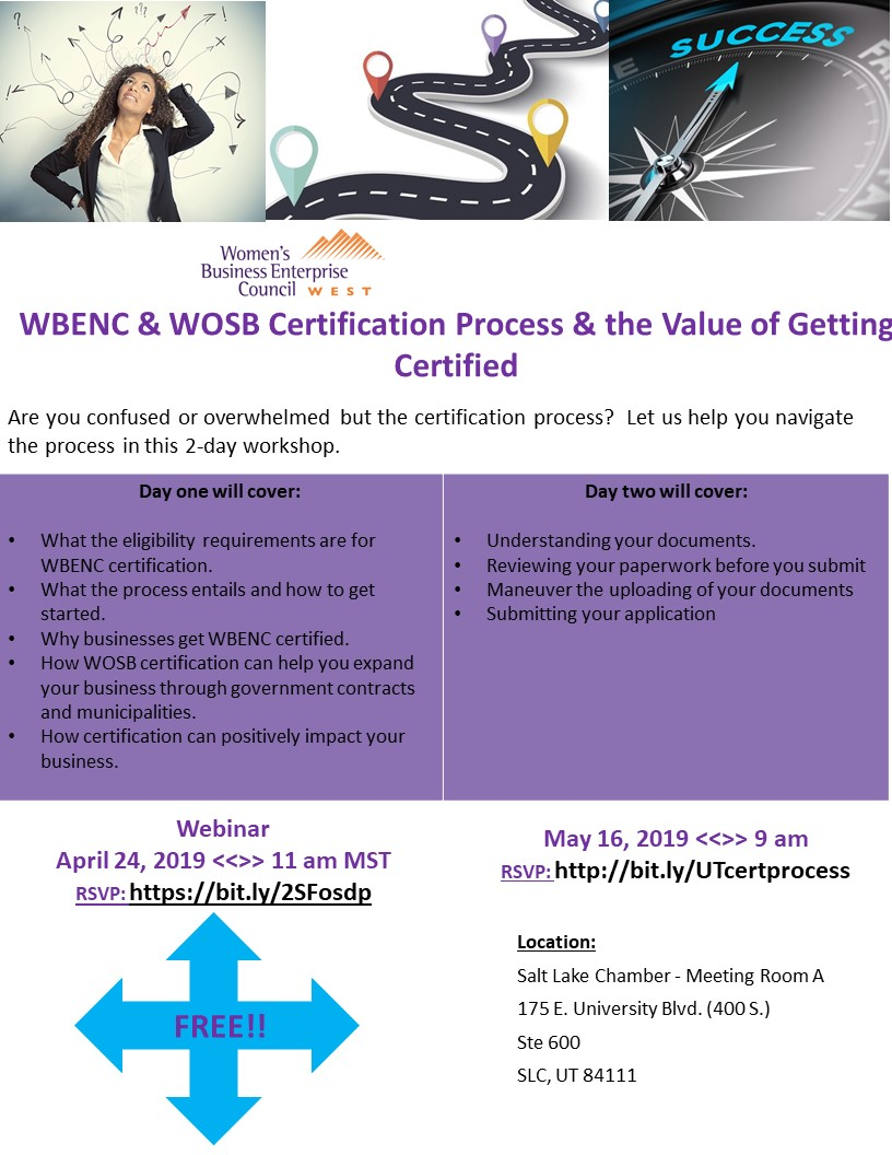 UT - WBENC & WOSB Certification Process & the Value of Getting Certified day 2