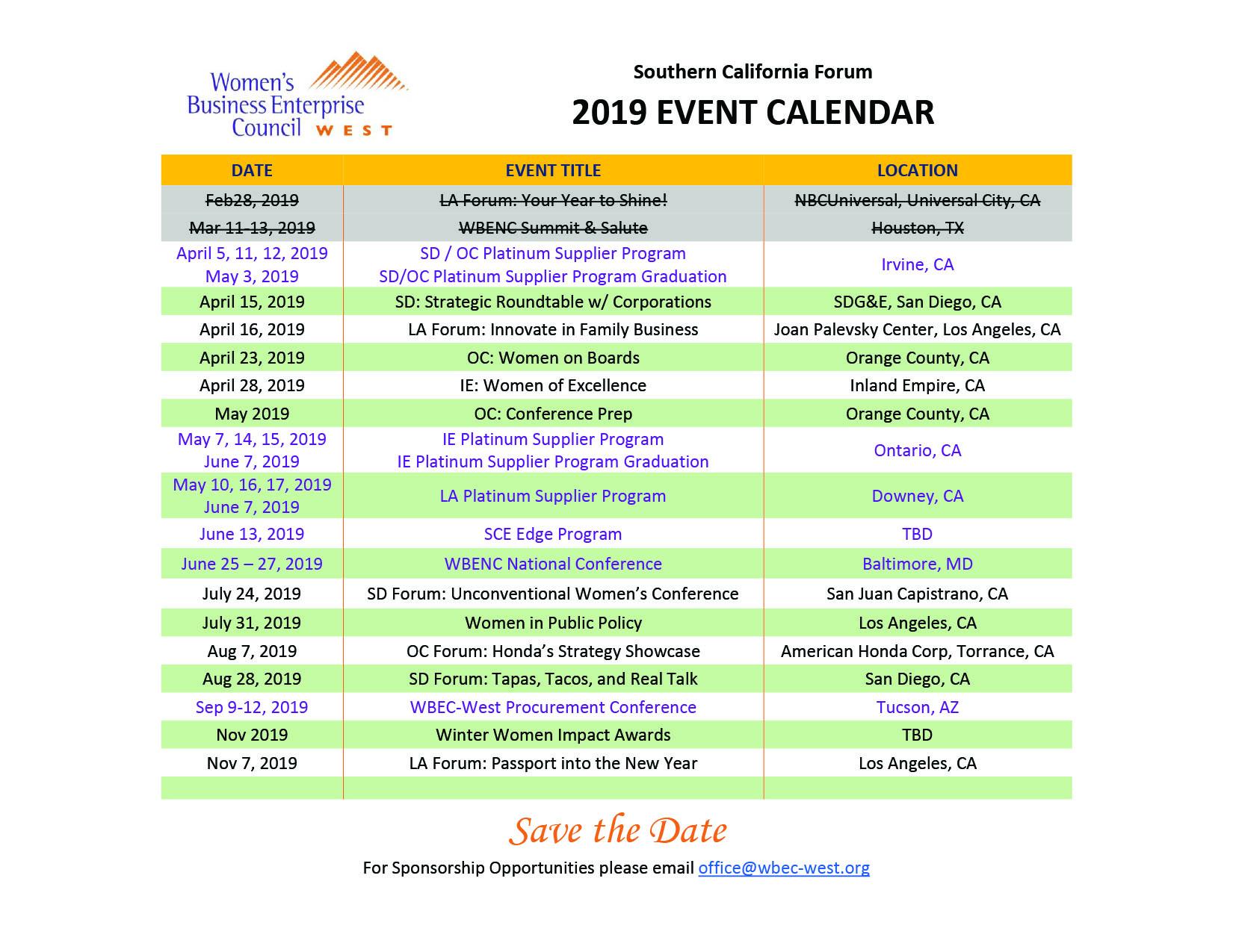 Forum Event Mini Schedule_2019