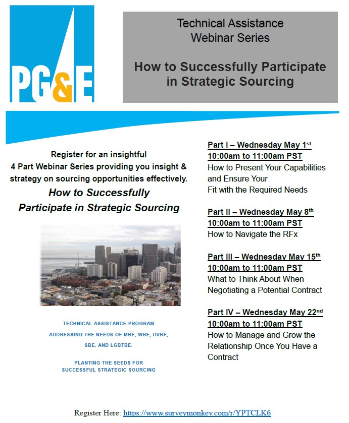 4 Part Webinar Series - How to Successfully Participate in Strategic Sourcing