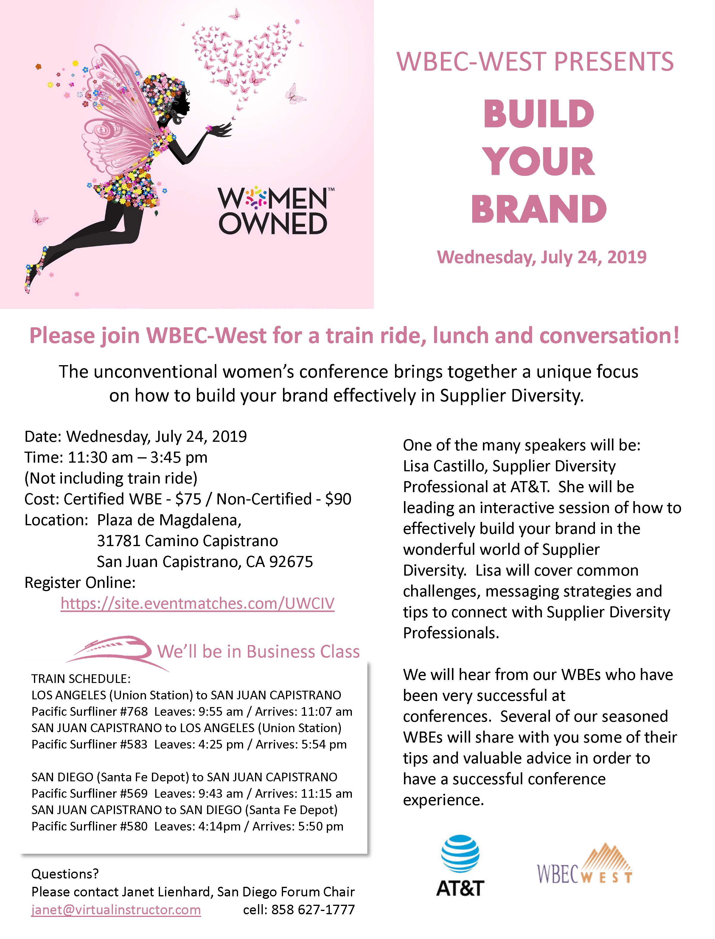 4TH ANNUAL CA UNCONVENTIONAL WOMEN`S CONFERENCE - ON THE RIGHT TRACK TO SUCCESS