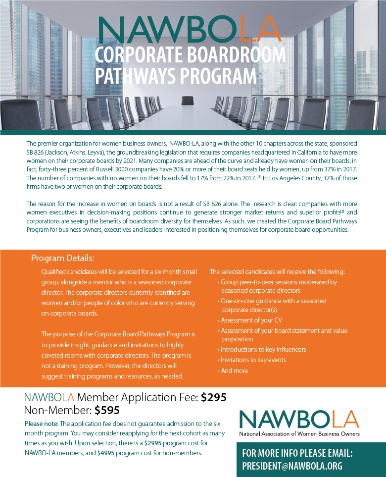 NAWBO-LA Corporate Board Pathways and WBEC-West