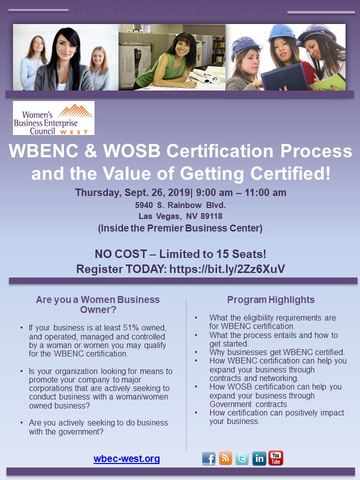 Ins & Outs of WBENC & WOSB Certification Process Workshop