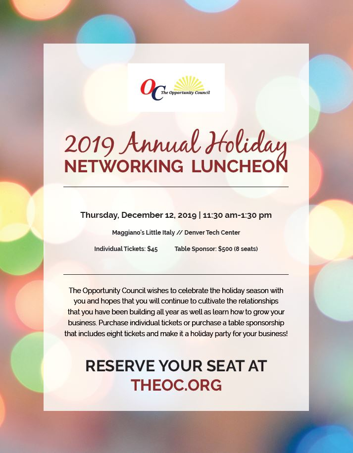 The Opportunity Council 2019 Annual Holiday Networking Luncheon