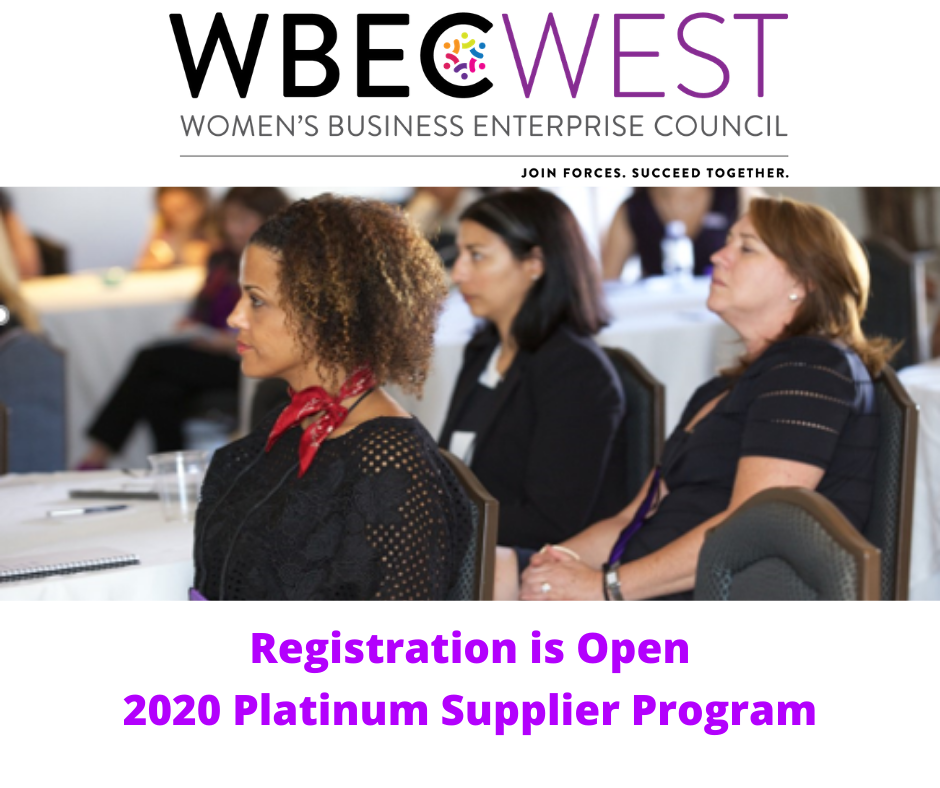 2020 WBEC-West Platinum Supplier Program