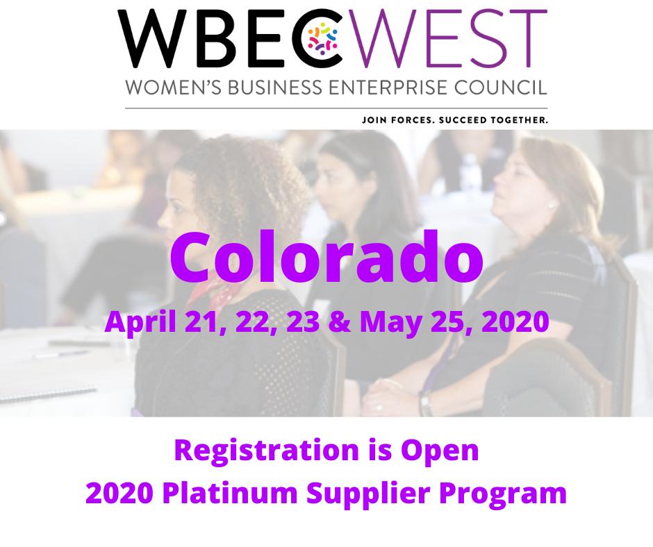 2020 WBEC-West Platinum Supplier Program - CO
