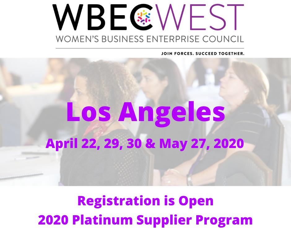 2020 WBEC-West Platinum Supplier Program - LA