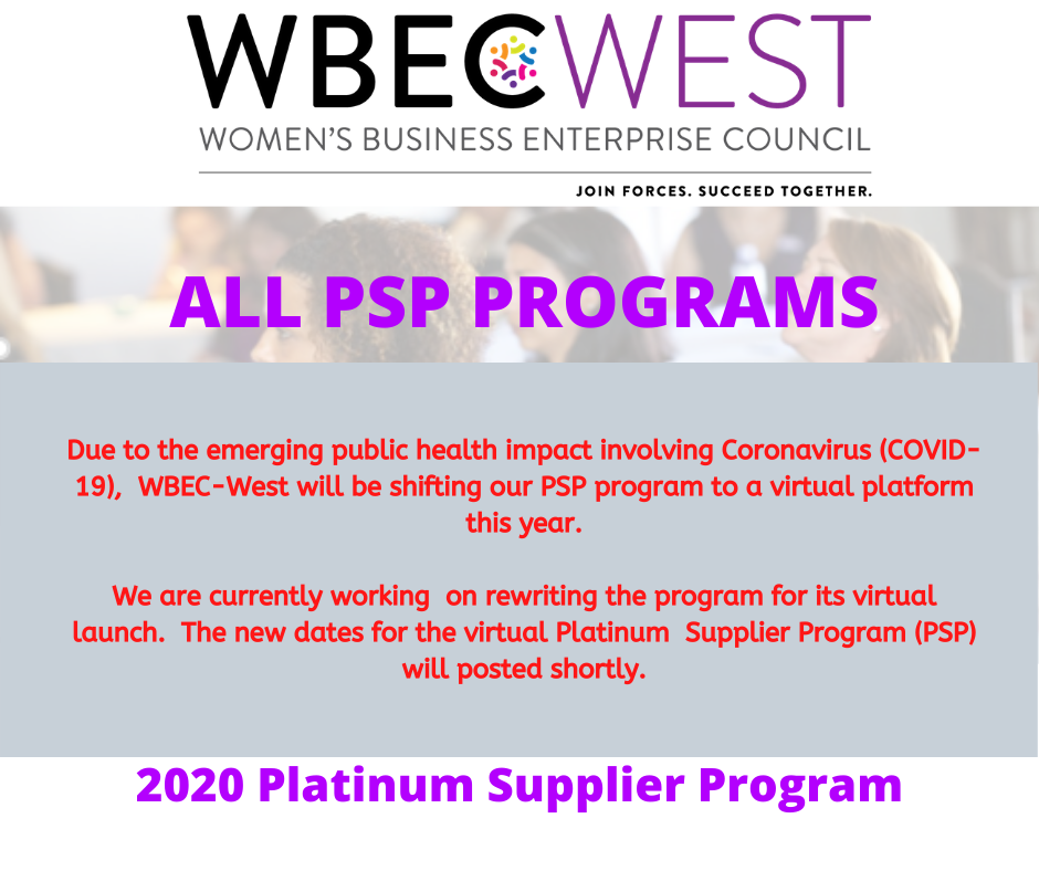 2020 WBEC-West Platinum Supplier Program