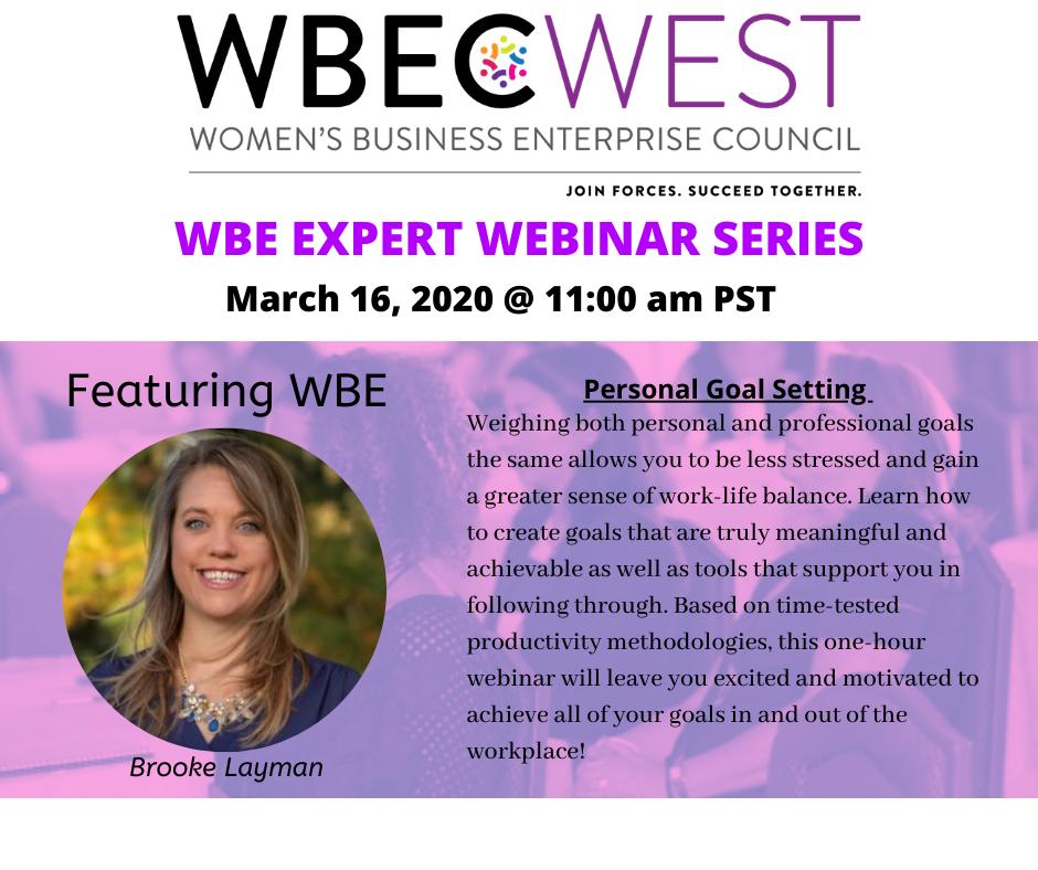 WBE Expert Webinar Series