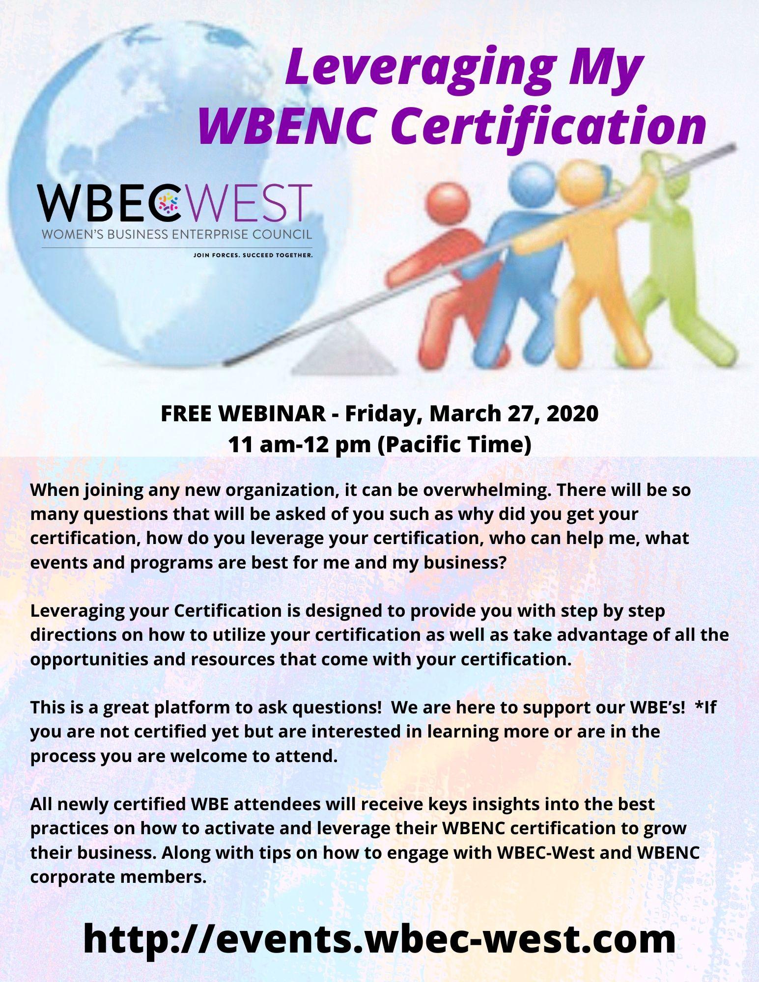 Leverage My WBENC Certification