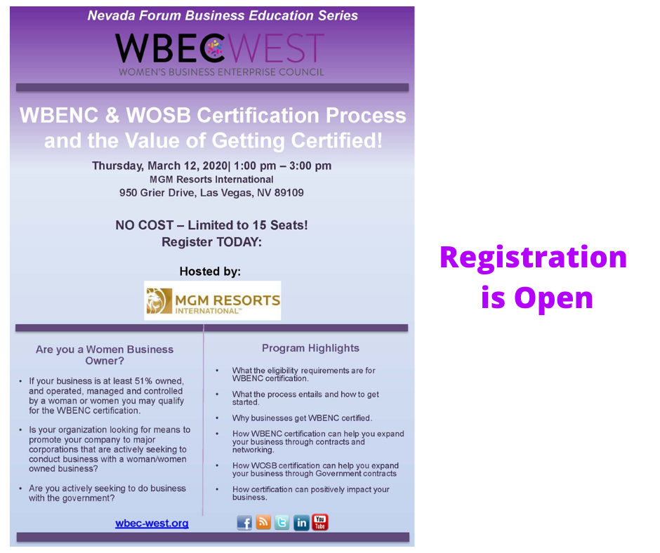 WBENC & WOSB Certification Process and the Value of Getting Certified!